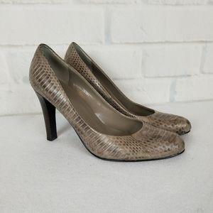 Lauren Ralph Lauren Snake Skin Pumps Size 10M